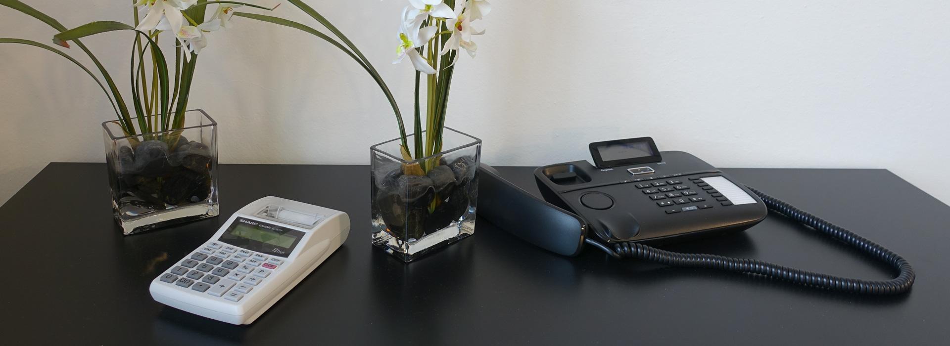 Taschenrechner mit Telefon